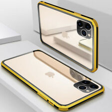 For iPhone 11 Pro Max X XS Max XR 8 7 Tempered Glass Back TPU Bumper Case Cover