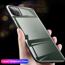 9H Liquid Tempered Glass Case for iPhone 11 Pro Max X XR XS 8 7+ 6s Hard Cover