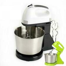 7Speed Electric Food Stand Hand Mixer Bowl Cake Dough Hook Whisk Beater 2L L0D3G