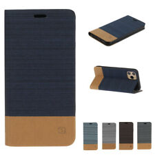 For iPhone 11 Pro Max XS XR 8 7 Plus Luxury Shockproof Flip Fabric Leather Case