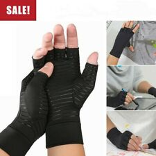 1Pair Copper Fit Arthritis Compression Gloves Hand Support Joint Pain Relief New