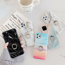 Marble Pattern Ring Stand Case For iPhone 11 Pro Max XS XR 8 7 6 Soft Slim Cover
