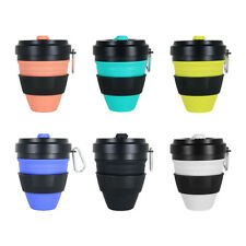 450ml Silicone Folding Cup Outdoor Portable Telescopic Coffee Water Cup