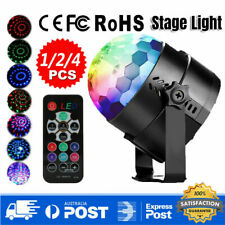 Voice Active Stage Lighting USB Rechargeable Laser Light RGB LED Magical Lamp AU