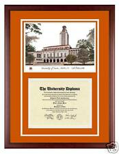 University of Texas Custom Diploma Frame w/ UT Artwork