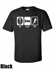Eat. Sleep. Run T Shirt All col and Sizes Cotton