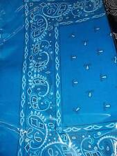 Blue Lot wholesale 1 dozen 12 Bandanas head wrap scarf