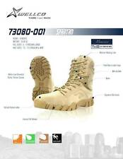 WELLCO SPARTAN DESERT BOOTS NYLON LEATHER SIZES 12.5 REG & WIDE 13 Wide
