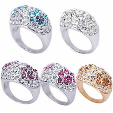 Floral Design Cocktail Ring in Sizes 6 7 8 9 10