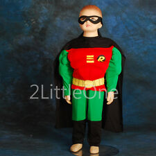 Muscle Robin Superhero Boy Fancy Halloween Party Costumes Outfit Size 2T-7 FC007