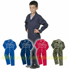 CHILDRENS KIDS COVERALL OVERALLS BOILERSUIT BOYS & GIRLS CHILDS BOILER SUIT