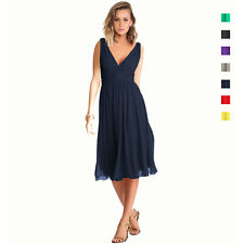 New Exquisite V-Neck Cocktail Evening Party Bridesmaid Chiffon Dress co9023