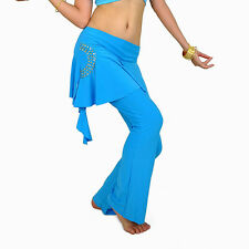 New Sexy belly dance Costume Diamond trousers Pants skirt 10 colours