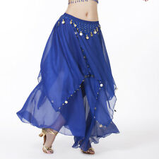 NWT belly dance Costume skirt with gold cions 13 Colours