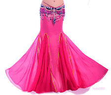 New Sexy Belly Dance Costume Long Fishtail Skirt Dress 10 colours