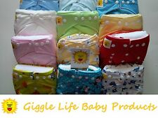 Giggle Life 40 x Cloth Diapers Nappy & 80 x Inserts Baby 8-33 lbs