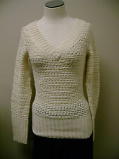 Lucky Brand Shimmer Pointelle Pullover NWT $99