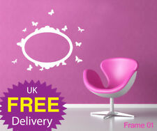 wall stickers, wall deco, Frames Hearts or Butterflies
