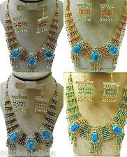 necklace & earrings set scarab belly dance egyptian new    101