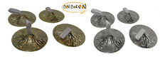 """4PCS BELLY DANCE ZILLS HIGH QUALITY 2"""" FINGER CYMBALS HAND MADE ENGRAVED  BRASS"""