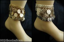 Belly Dance Dancing costume Anklet  Egyptian Gypsy Coins Tribal Silver Gold  112