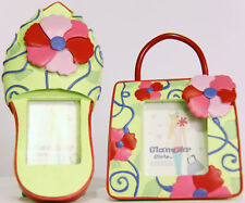 Fancy Set of Ceramic Pocketbook and Shoe Mini Frames, Free Expedited Shipping ♫❤