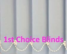 MADE TO MEASURE VERTICAL BLINDS LIGHT GREY