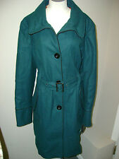 Steve Madden Teal Belted Tiered Wool Coat NWT $280