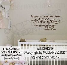 WINNIE THE POOH Vinyl Wall Quote Decal ADVENTURE