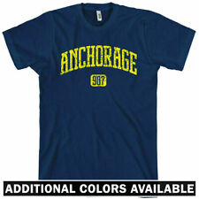 ANCHORAGE T-shirt - Area Code 907 Alaska Denali XS-4XL