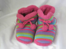 Girls Multi-coloured Fur Lined Slipper Boots X2038