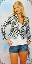 NWT CHEETAH PRINT CROP BLAZER- ONLY SIZE LARGE LEFT