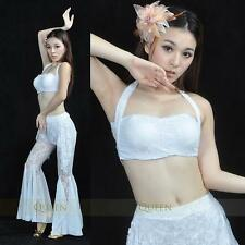 SF10# Sexy Belly Dance Lace Costume Top & Pants 9 Colors
