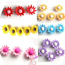 20pcs Hot Sunflower FIMO Polymer Clay Loose Beads 25mm