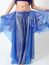 Shimmer Belly Dance Two-side Open Skirt 9 Colors