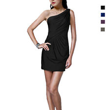 Fashion Draped One shoulder Jersey Cocktail Mini Dress Club Party Wear co7168