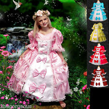 Girls Princesses Costume Fairy Fancy Occasion Party Victorian Dresses 2-10y 001