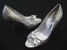 STEVE MADDEN AGATE SILVER WEDDING BRIDAL LADIES FORMAL DRESS HEELS SHOES NEW