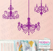 Chandelier Vinyl Wall Decal Graphics 3 CHANDELIERS Art Home Decor Vintage Chic