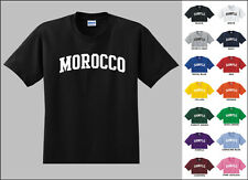 Country of Morocco College Letters T-shirt