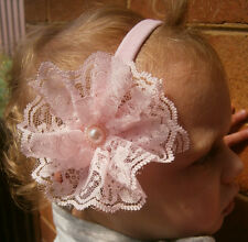 NEW Baby/ Toddler Girl Lace Flower Headband