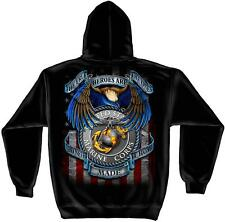 All Gave Some - Some Gave All Marine Corps Black Sweat Shirt with Hood