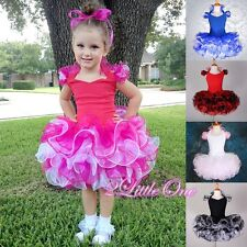 2 Pcs Cupcake Halter National Pageant Dress DIY Shell Toddler Size 12m-11 PT002