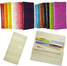 Luxury Genuine Eel skin Leather Slim Wallet with coin Purse Wallet 15 Colors