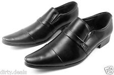 MENS ITALIAN DRESS LOAFERS SLIP ON STYLISH FORMAL CASUAL PARTY BLACK SHOES (170)