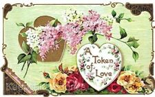 Valentine Token of Love Roses Quilt Block FrEE ShiPPinG WoRld WiDE