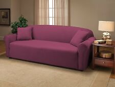 PURPLE JERSEY SOFA STRETCH SLIPCOVER, COUCH COVER, CHAIR LOVESEAT SOFA RECLINER