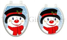 Snowman in Top Hat Toilet Tattoo, Decor, Decal, Cover, Christmas, Xmas TT-X618