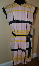 NEW JASON WU FOR TARGET BLUSH PINK STRIPE DRESS WITH BLACK SASH SIZE S M