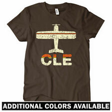 FLY CLEVELAND Women's T-shirt - Ohio Hopkins Airport Airplane 216 - S-2XL